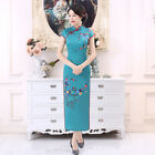 Внешний вид - 2018 Chinese Traditional Cheongsam Women Long Silk Summer Dress Size M-3XL