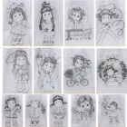 Happy Girl Transparent Silicone Clear Stamp Cutting Dies DIY Scrapbook Embossing