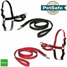 PetSafe Dog Puppy Harness & Lead Non-Pull Collar Easy Walk, All Sizes Red/Black