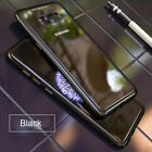 Magnetic Absorption Tempered Glass Metal Case For Samsung S8 S9 Plus Note 9 8 S7
