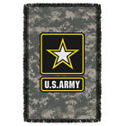 U.S. Army BIG STAR PATCH Logo Camouflage Woven Throw Blanket