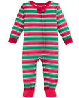 Family Pajamas Unisex Baby Boys and Girls Holiday Stripe Footed PJ