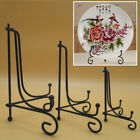 Iron Easel Bowl Plate Art Photo Picture Frame Holder Book Tea cake Display Stand