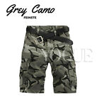 Men's Military CAMO CARGO SHORTS Camouflage BERMUDA Work Army Loose Baggy Pants