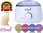 Wax Warmer Kit or Depilatory Hard Wax Beans Waxing Pellet Painless Hair Removal