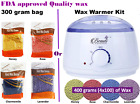 Wax Warmer Kit / Depilatory Hard Wax Beans Waxing Pellet Painless Hair Removal on eBay