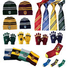 Harry Potter Gryffindor Scarf + Hat + Gloves+Badges+Tie+Socks+Brooch Costume Cos