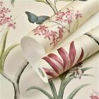 American Style Bedroom Wall Paper Vintage Pink Floral Wallpaper Blue Tropical