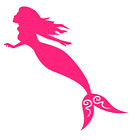 Mermaid Vinyl Decal Sticker Home Wall Cup Car Decor Choose Size Color