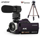 WiFi 4K HD 1080P 48MP 16X ZOOM Digital Video Camera Camcorder DV & Metal Tripod