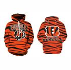 Cincinnati Bengals Hoodie Medium-XXL 2XL Unisex Men Women Football Sweatshirt