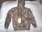 Boys 2X Rain Coat Non Insulated Rain Jacket Realtree Camo Jacket Water Proof