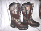 Mens 8.5 Water Proof Boots Insulated Camo Hunting Boots Snake Boots $180+tax