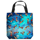 "ASTRO BOY PATTERN LIGHTWEIGHT TOTE BAG 2 SIDED PRINT 13"" x 13"""