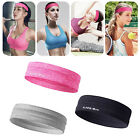 Unisex Workout Silicone Sweatband Elastic Headband Hair Head Band For Gym Sports