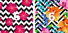 """Floral & Stripes Oracal Printed Adhesive Outdoor Vinyl 6"""" x 6"""" PERMANENT"""
