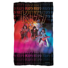 Kiss Rock Band in Concert STAGE LIGHTS Lightweight Polar Fleece Throw Blanket image
