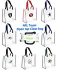 NFL Team Clear Reusable Open Tap Tote Bag 2019 Stadium Aproved $9.99 USD on eBay