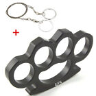 Black Stainless Steel Self Defense Finger Knuckles Tool Ring Gothic Escape Ring