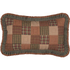 VHC Crosswoods Russet Green Tan Rustic Country Home Bedding Cotton Pillow Sham image