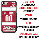 Alabama Crimson Tide Football Personalized Jersey Phone Case for iPhone etc.