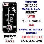 Chicago White Sox Blk Baseball Jersey Phone Case Personalized for iPhone LG etc.
