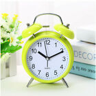 Classic Silent Double Bell Alarm Clock Concise Quartz Movement Bedside Night