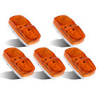 "5 x 4""x2"" Amber Side Marker Clearance Warn Light LED Surface Mount Tailer Alarm"