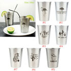 Stainless Steel Tumblers Travel Pint Mugs Stackable Drink Pi