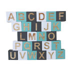 26Pcs Wood English Alphabet Block DIY Letter Educational Training Toys Craft