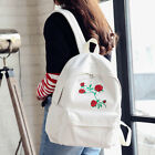 Women Girls Fashion Canvas Embroidery Flowers School Bag Travel Backpack Bag