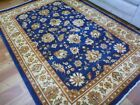 Stain Resistant Persian Allover Aged Design Navy Cream Border Floor Area Rugs