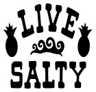 Live Salty Waves Pineapple Vinyl Decal Sticker Home Wall Cup Car Decor Choice