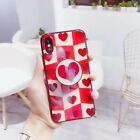 Blue Laser Love Heart Multi-function Bracket Phone Case Cover For iPhone X 6 7 8