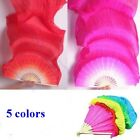 New 18m 5 Colors Hand Made Belly Dance Dancing Silk Bamboo Long Fans Veils