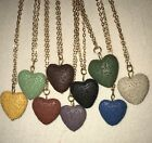 Lava Stone Heart Shaped Diffuser Necklace & Choice of Young Living Essential Oil on eBay