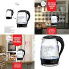 Electric Kettle Glass Tea Coffee Maker Jug Boilers 1.7 Liters For Kicthen Tools