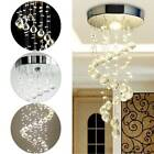 NEW Chrome Crystal LED Ceiling Lights Fitting Pendant Lamp Chandeliers 5336HC UK