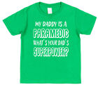 My Dad's A Paramedic What's Your's Superpower? Kids T-Shirt Boy Girl Ambulance