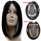 """2.7''x3.9"""" Base Human Hair Topper Hairpiece Silk Top Women Toupee With Clips"""