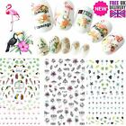 LARGE Nail Stickers Holiday Flamingo Palm Water Decal Lace Summer 12.2 x 7.5cm