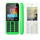 Nokia 215 Unlocked Original Dual SIM  Bluetooth MP3 Black White Green Cellphone