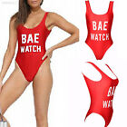 "RED ""BAE WATCH"" BAYWATCH ONE PIECE HIGH CUT VINTAGE INSPIRED SWIMSUIT 2018"