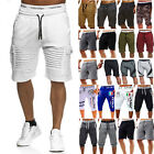 Mens Cargo Shorts Pants Casual Summer Beach Sport Gym Trousers Plain Elastic US