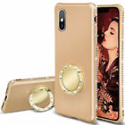 For iPhone XS XR X 8 7 Girls Bling Diamond Ring Magnetic Stand Soft Case Cover