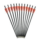 "12""-18"" Crossbow Bolts Fiberglass Arrows Flat Nock for Archery Hunting Outdoor"