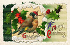 Crazy Quilt Block Vintage Christmas Bird Multi Szs FrEE ShiP WoRld WiDE (C9