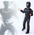 Jungen Black Panther kostüme Marvel Superheld Cosplay Karnevals Kinder kostüm su