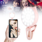 Rechargeable 32 LED Clip On Selfie Phone Light Ring Light Night Fill-in iPhone X