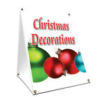 """A-frame Sidewalk Christmas Decorations Sign Double Sided Graphics 